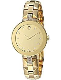 Women's 'Sapphire' Swiss Quartz Tone and Gold Plated Casual Watch(Model: 0606913)