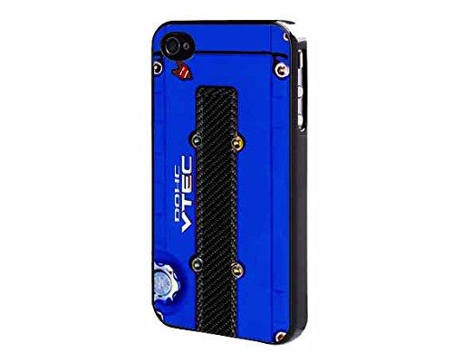 JDM DOHC Vtec Inspired Valve Cover BLUE iPhone 4 4s Back Case Cover