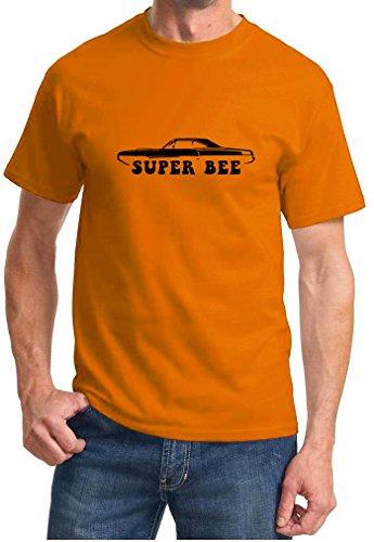 1970 Dodge Coronet Super Bee Classic Outline Design Tshirt XL orange ()