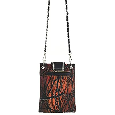 Justin West Western Tooled Buckle Concho CrossBody Mini Handbag Phone Messenger Purse
