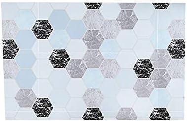 Couleur : Rouge NO LOGO QXP-ZYP Brique /étanche Hexagon Cuisine Huile Autocollants Accueil Salle de Bain autoadh/ésives Stickers muraux Fournitures Kichen