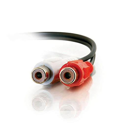 C2G 40468 Value Series RCA Stereo Audio Extension Cable, Black (6 Feet, 1.82 Meters)
