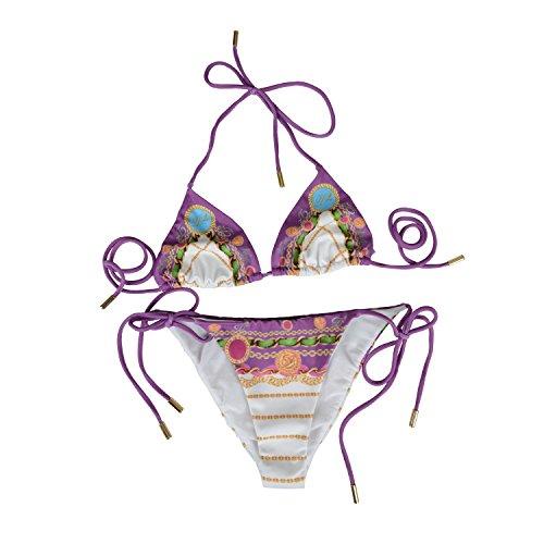 ab61c43fb2948 Dsquared Women s Multi-Color Two Piece Bikini Swimsuit US L EU 44