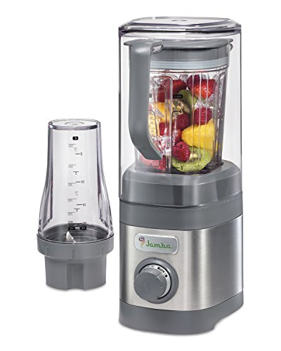 Jamba Appliances Quiet Shield Blender with 32 oz & Personal Single Serve 20 oz Jars, Gray (58916)