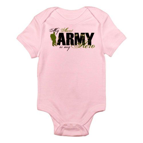 CafePress Aunt Hero3 - Army Infant Bodysuit - Cute Infant Bodysuit Baby (Patriotic Military Infant Bodysuit)