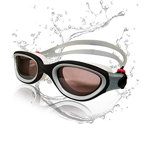 Cabana Sports Pearl Swimming Goggles by Zoggs, Polarized Swim Goggles with Smoke Lens UV Protection Watertight Anti-Fog Adjustable Strap Comfort fit for Unisex Adult Men and Women, Teenager