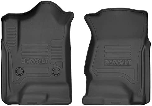 DeWalt DXTAFL010 Black 2nd Seat Floor Liner Fits 14-18 Silverado//Sierra Crew Cab 2019 Silverado LD//Sierra Limited 1500 Crew Cab