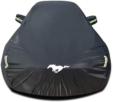 Car Cover Compatible with Ford Mustang GT/Shelby/Cobra/Bullitt/ECOBOOST, All Weather Full Vehicles Covers Waterproof Cover Outdoor Car Accessory Car Tarpaulin with Storage Bag