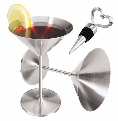 steel martini glasses - 5