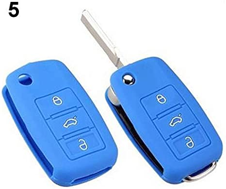 Universal Car Accessories Silicone Car Key Holder Case Cover for Volkswagen VW Black qsbai