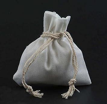 algodn bolsa bolsa arpillera de pequea tela piezas