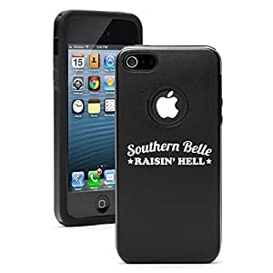 Apple iPhone 5 5s Silicone Soft Rubber Skin Case Cover Heart Love Travel Airplane (Black)