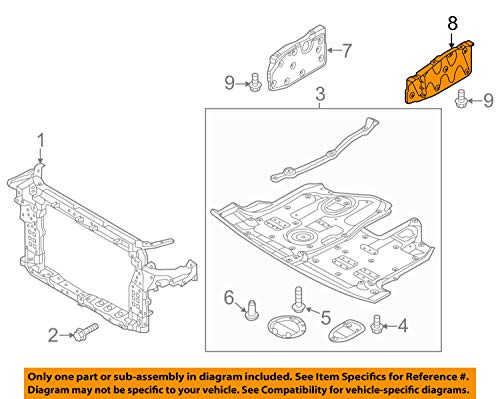HYUNDAI OEM 13-18 Santa Fe Splash Shield-Engine Side Shield Left 291304Z000 by HYUNDAI (Image #3)