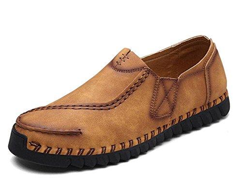SHIXR Nouveau printemps sauvages chaussures de sport pour hommes la vie quotidienne des britanniques de chaussures de jeunes urbains chaussures de sport chaussures bateau , golden yellow , 41