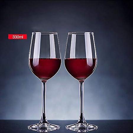 Z·Bling Copas de Vino Tinto,Cristalería Copas de Vino Personalizada Juego 2 Piezas en Forma Clásica,Vidrio Transparente sin Plomo Soplado a Mano para Vino Tinto,Vino Blanco,Espumoso - 330 ML