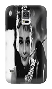 Custom Lovely Audrey Hepburn fashionable TPU Cellphone Protector Cover Case for Samsung Galaxy s5 by mcsharks