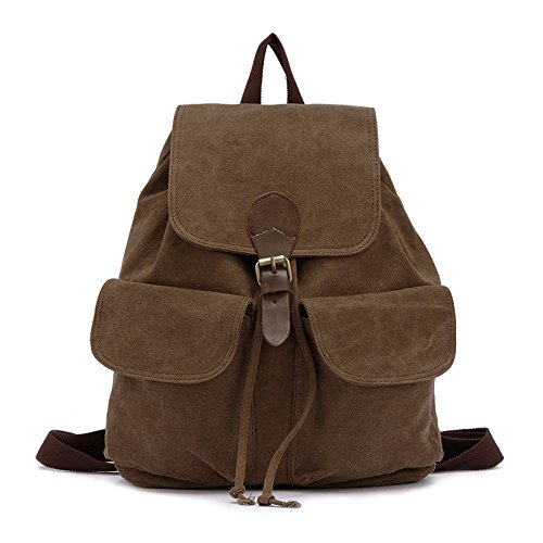 Backpack XIAOLONGY Student Canvas Casual Double khaki Korean Backpack Lady Backpack qn7pgr6qc