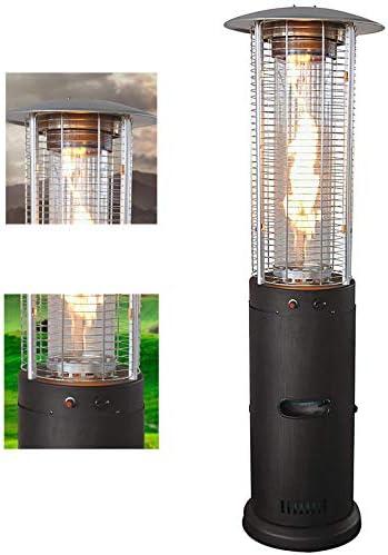屋外パティオプロパンヒーター、調整可能な火炎制御付き急速ヒーター、耐久性、屋外の中庭用ブラシブロンズ