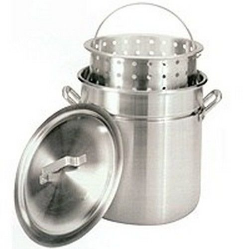 (Ship from USA) BARBOUR 8000 80 QUART ALUMINUM STOCK POT STEAMER W/ LID & BASKET /ITEM NO#8Y-IFW81854210428