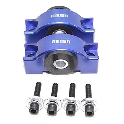 EMUSA Engine Billet Motor Torque Mount fit 92-00 Honda Civic/93-97 Honda Civic Del Sol/94-01 Acura Integra D15 D16 B16 B18 B20 B18B B18C (BLUE): Automotive