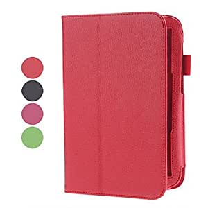 "8 ""Patrón Leechee Leather Laptop Sleeve Case for Samsung N5100 (4 colores) , Rojo"