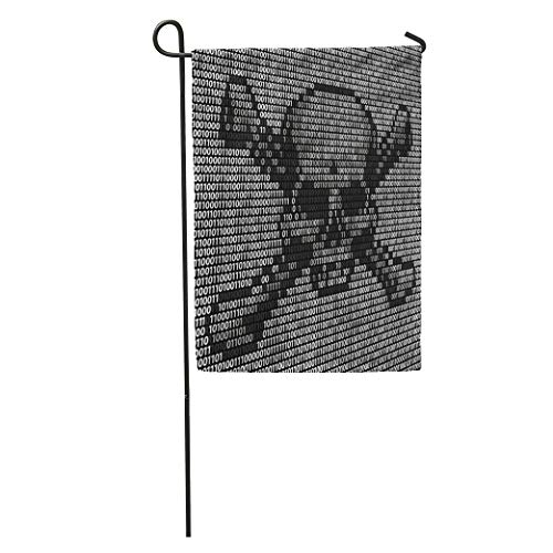 Semtomn Garden Flag Skull and Crossed Bones Danger Piracy Sign Made Up Home Yard House Decor Barnner Outdoor Stand 28x40 Inches Flag (Best Antivirus For Pirates)