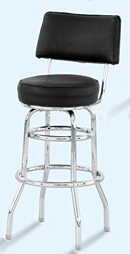 Pleasing Amazon Com Alston Quality 4210 30 Blk Padded Back Double Beatyapartments Chair Design Images Beatyapartmentscom