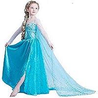 فستان ملكة الثلج من سوفام، مصمم للفتيات، ومناسب للحفلات التنكرية، فستان عيد ميلاد ملكة الثلج، فستان للاطفال بلون ازرق مع…
