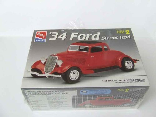 #6686 AMT/Ertl 34 Ford Street Rod 1/25th Scale Plastic Model Kit,Needs Assembly