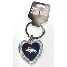 NFL Rhinestone Heart Keychain