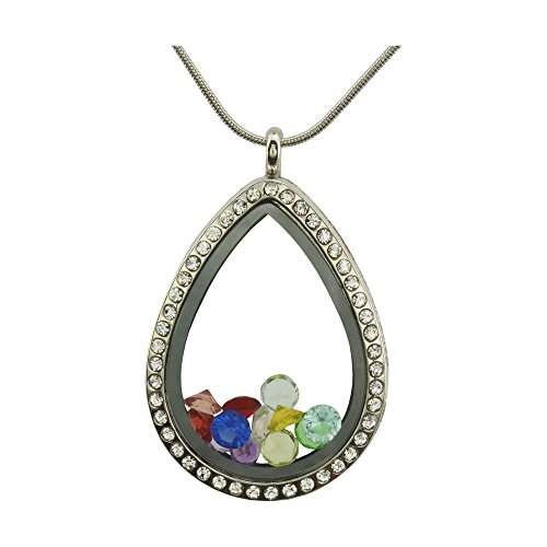 30 mm teardrop glass gem - 7