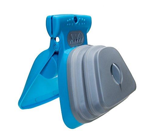Dog Pooper Scooper with Bag Dispenser and Leash Clip | Large Dog Poop Scoop | Handheld Scooper | Portable Pooper Scooper