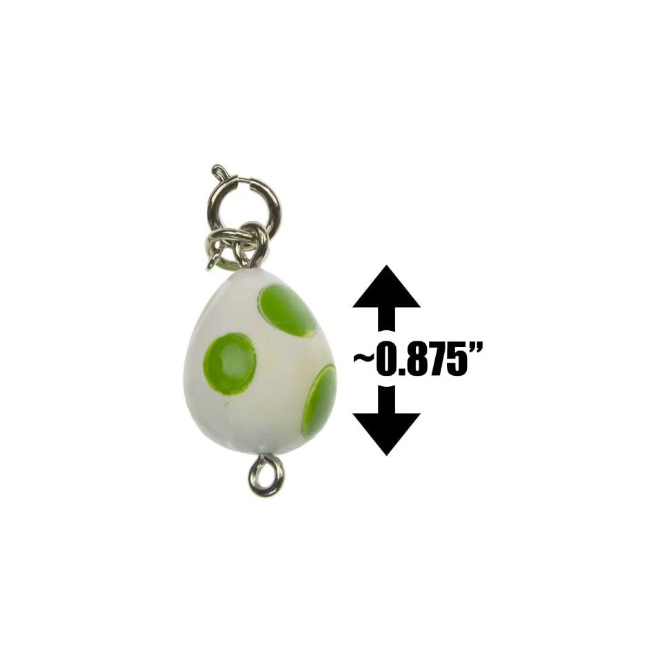 Yoshi Egg ~0.875 Mini Figure   New Super Mario Bros Wii Zipper Pull/Charm Series (Japanese Import)