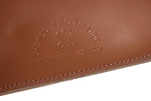 "15""marrón real funda de piel Oxbridge Satchel in-new RL15Chestnut–moda retro mochila escolar–en caja"