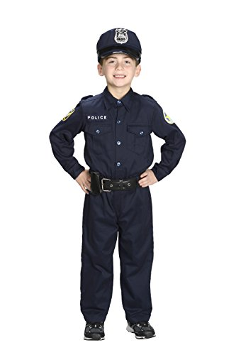 Aeromax Jr. Police Officer Suit, Size 8/10 with police cap,badge, and belt to look and feel like the real - Officer Police Outfit
