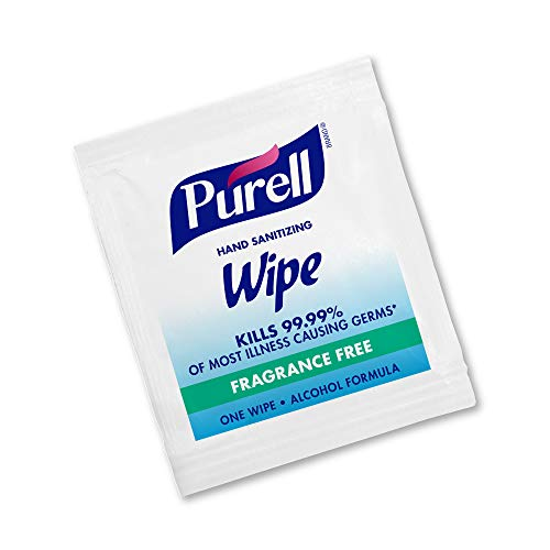 41EUxtl43FL - PURELL Hand Sanitizing Wipes, Alcohol Formula, Fragrance Free, 300 Count Individually Wrapped Hand Wipes - 9020-06-EC
