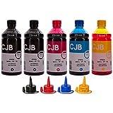 Kit de Tinta Para Impressora Epson L220 L355 L365 L375 L395 L575 XP204 (5x500ml)