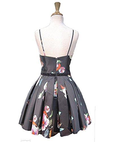 Fanciest Damen Linie A Kleid Schwarz pUTYTFwq
