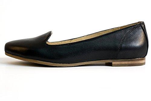 Leather Loafer Women's Black and Heel Black Low Print Tan Leopard Aspele 5PpwIqq