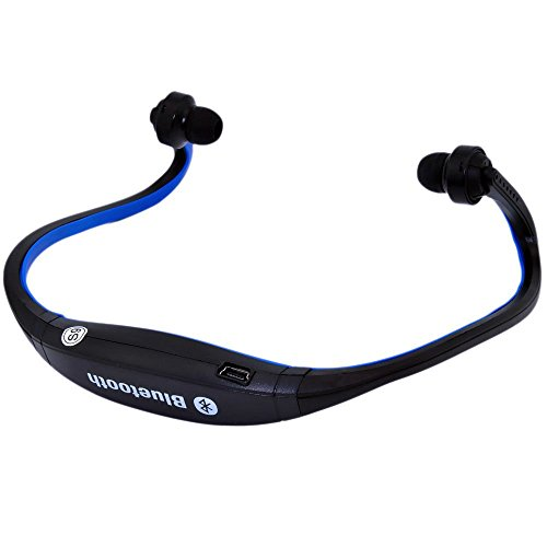 TOOGOO(R) Sports Wireless Bluetooth Headset Headphone Earphone for Cell Phone Iphone Laptop Pc(black with blue)