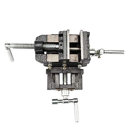 [해외]Mandycng DIY 도구 6 \\ / Mandycng DIY Tool 6 Vise Clamp 2 Way X-Y Clamp Machine Benchtop Cross Drill Press Vise Slide Tabletop Garage Metal Milling Dark Gray