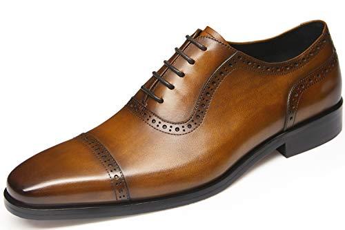 Men's Dress Shoes,Oxford Shoes,Casual Shoes,Black Shoes,Brown Shoes,Dress Shoes for Men(9.5US/Brown (Men Casual Oxfords)