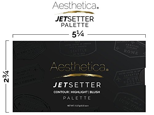 Aesthetica JetSetter Palette - All in One Highlighter, Blush and Contour Kit - Fair to Medium Skin Tones by Aesthetica (Image #6)