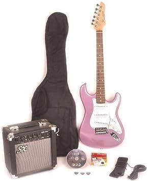 RST MPP morado eléctrico guitarra tamaño completo w/ga1065 Amp, DVD de instrucciones, y bolsa de transporte: Amazon.es: Instrumentos musicales