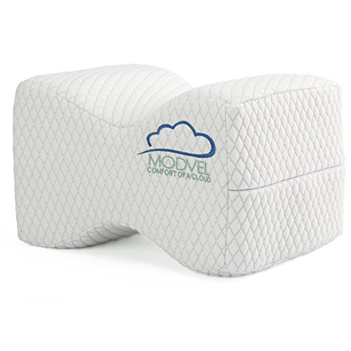 Modvel Orthopedic Knee Pillow – Memory Foam Knee, Hip, Sciatica & Lower Back Pain Relief Cushion, Provides Support & Comfort, Breathable , Between-The-Legs Pregnancy Sleep Contour Wedge (MV-104) (Choosing For Pillows Bed)