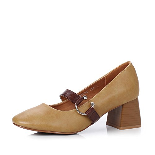 Heel La para sola nuevo retro otoño de pesadas luz la Shoes alto con de luz zapato Color Y el campo CrCqv0S