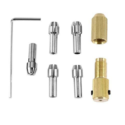 Golden 8Pcs 0.5-3mm Small Mini Electric Drill Bit Collet Micro Twist Chuck Tool Kit Adapter Small Electric Drill Stand Accessories