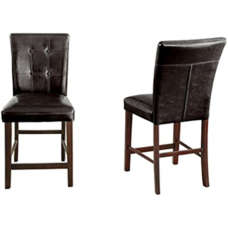 Homelegance 2456 24 Counter Height Chair Upholstered Set Of 2