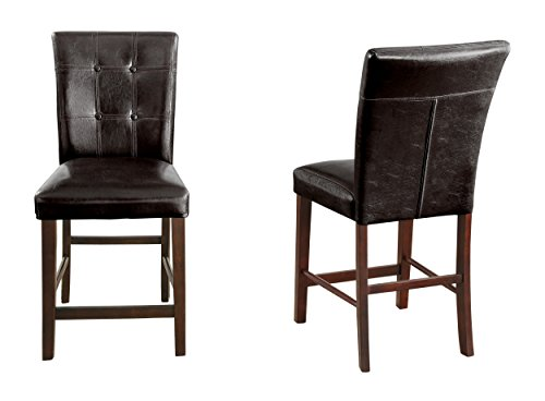 Top 10 Brown Leather Dining Chairs With Dark Legs Of 2019