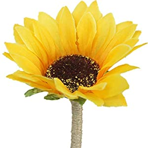 Lily Garden Artificial Calla Lily Sunflower and Peony Flower Wedding Bouquets (boutonniere) 86
